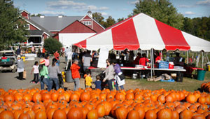 fall festival tent
