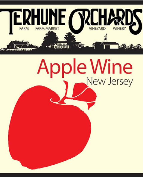 apple wine label