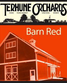 barn red wine label