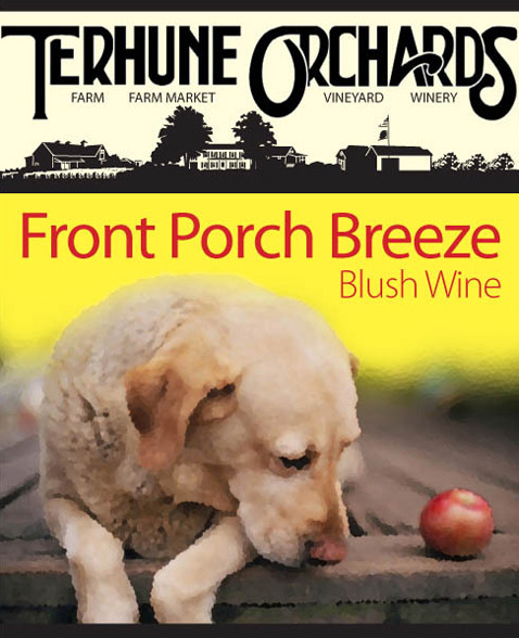 front porch wine label