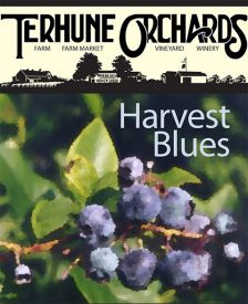 harvest blues wine label