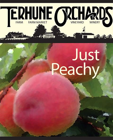 just peachy wine label