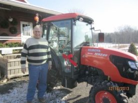 Gary Mount  tractor Terhune Orchards farm Princeton NJ