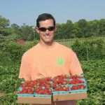 Jim strawberries Terhune Orchards farm Princeton NJ