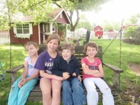 grandkids Mount Terhune Orchards farm Princeton NJ