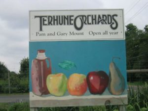 sign Terhune Orchards