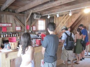 Terhune Orchards wine tasting room visitors