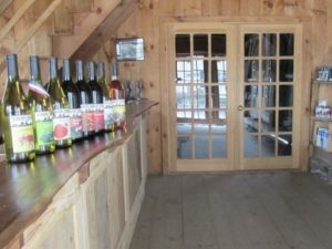 Terhune Orchards wine tasting room bottles
