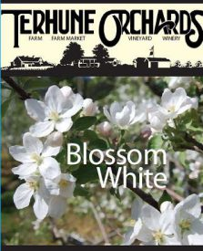 blossom white wine label