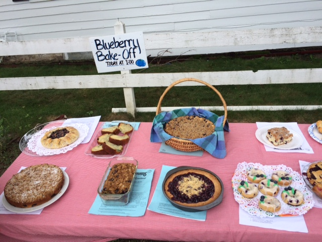 blueberry bake off table