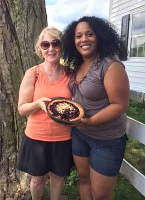 Blueberry Ginger Shortbread Tart
