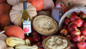 wine, pie, cider and apples