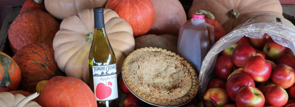 wine, pie, cider, apples