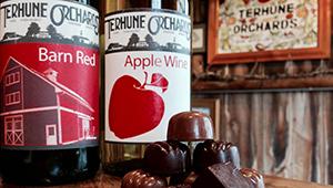 Terhune Orchards wine and chocolate