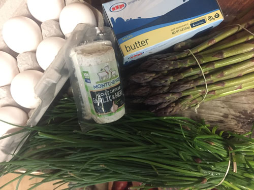 asparagus and chives
