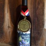 harvest blue wine with award