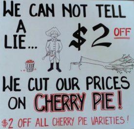 cherry pie sale
