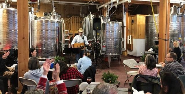 Jerry Steele in barn