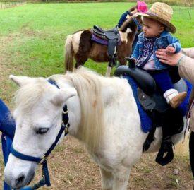 baby on pony ride