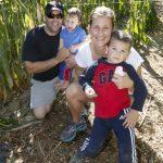 family in corn maze
