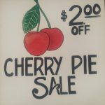 cherry sale sign
