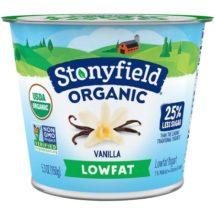 Stonyfield Organic Lowfat Vanilla Yogurt (6 oz)