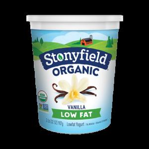 Stonyfield Organic Lowfat Vanilla Yogurt (32 oz)