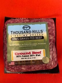 Beef Ground - grass fed organic 1 lb