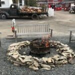 fire pit outside winery