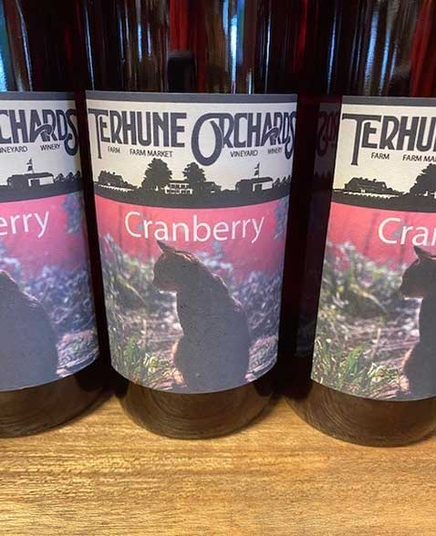 Cranberry Wine Bottle
