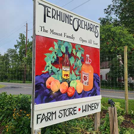 Terhune Orchards Sign