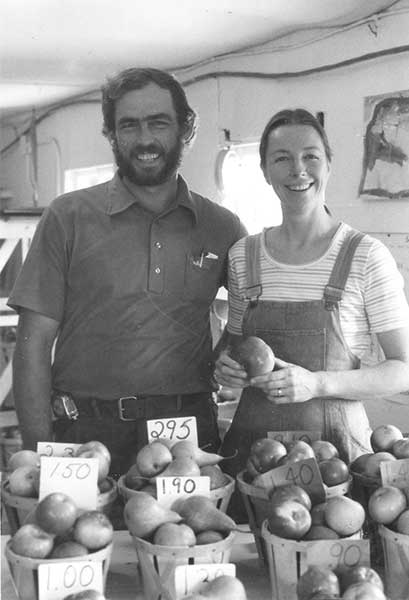Gary and Pam in farm store 1977